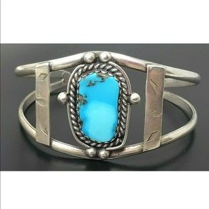 Vintage Sterling/turquoise Native American Cuff